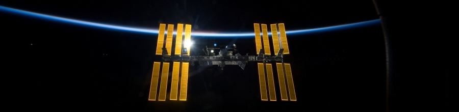 ISS at night